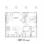 1 Bedroom 1 Bath 692 sq ft