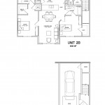 2 Bedroom 2 Bath w/garage - 1055sqft