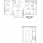 2 Bedroom 2 Bath w/garage - 1115sqft