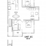 2 Bedroom 2 Bath - 1096sqft