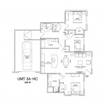 3 Bedroom 2 Bath w/garage 1095 sq ft $Call For Pricing